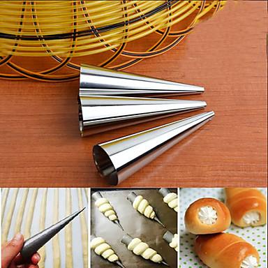 3pcs الفولاذ المقاوم للصدأ قوالب القرن كريم أشكال المعجنات الحلوى شكل الخبز
