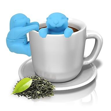 olcso Teázás kellékek-állati vidra szilikon infuser tea szűrő kávé gyógynövény szűrő tea eszközök