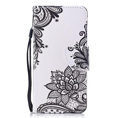غطاء من أجل Huawei Honor 7X محفظة / حامل البطاقات / قلب غطاء كامل للجسم زهور قاسي جلد PU