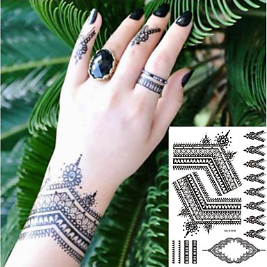 decal-style-temporary-tattoos-hand-temporary-tattoos-2-pcs-totem ...