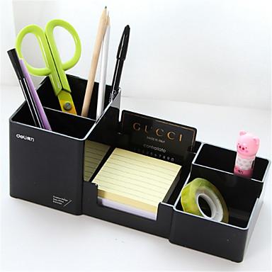 PVC مستطيل إبداعي الصفحة الرئيسية منظمة, 1PC تخزين الماكياج