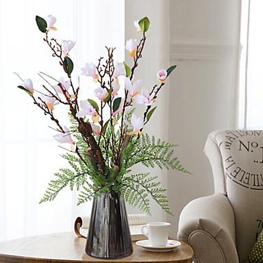 Künstliche Blumen 1 Ast Klassisch Stilvoll Orchideen Tisch-Blumen