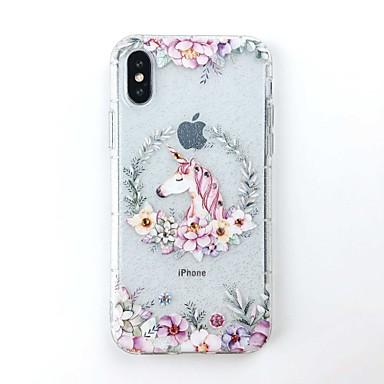 voordelige iPhone-hoesjes-hoesje Voor Apple iPhone X / iPhone 8 Plus / iPhone 8 DHZ Achterkant Glitterglans Zacht TPU