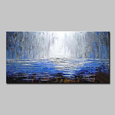 povoljno Wall Art-Hang oslikana uljanim bojama Ručno oslikana - Sažetak Moderna Bez unutrašnje Frame / Valjani platno