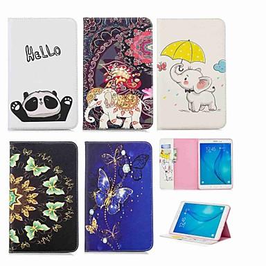 voordelige Samsung Tab-serie hoesjes / covers-hoesje Voor Samsung Galaxy Tab E 9.6 Portemonnee / Kaarthouder / met standaard Volledig hoesje Olifant Hard PU-nahka