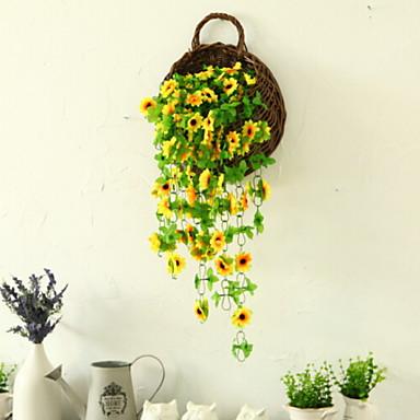 زهور اصطناعية 1 فرع معلقة على الحائط الحديث المعاصر الزهور الخالدة أزهار الحائط