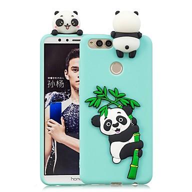 رخيصةأون Huawei أغطية / كفرات-غطاء من أجل Huawei Huawei Honor 9 Lite / Honor 7X / Huawei Honor 7C(Enjoy 8) اصنع بنفسك غطاء خلفي باندا ناعم TPU