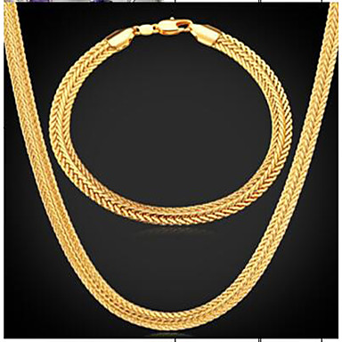olcso Aranyozott-Férfi Vintage nyaklánc Stílusos Gumi hölgyek Divat Dubai Arannyal bevont Fülbevaló Ékszerek Arany Kompatibilitás Napi Estély
