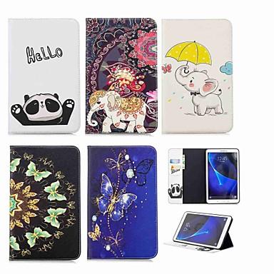 غطاء من أجل Samsung Galaxy Tab A 10.1 (2016) محفظة / حامل البطاقات / مع حامل غطاء كامل للجسم فيل قاسي جلد PU