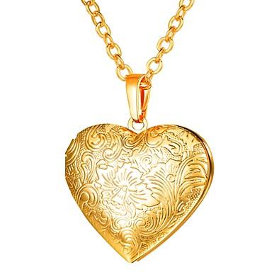 رخيصةأون قلادات روز جولد-نسائي قلائد الحلي طويل مدلاة قلب سيدات رومانسي قوطي نحاس ذهبي فضي ذهبي روزي 55 cm قلادة مجوهرات 1PC من أجل هدية مناسب للبس اليومي