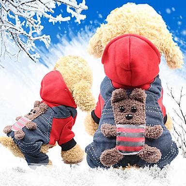 رخيصةأون ملابس وإكسسوارات الكلاب-القوارض كلاب قطط المعاطف ملابس الكلاب أصفر أحمر كوستيوم هاسكي لابرادور Malamute ألاسكا قطن حيوان شخصية ستايل رياضي مدفئ الرأس XS S M L XL XXL