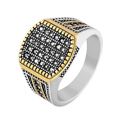رجالي خاتم البيان خاتم الخاتم 1PC ذهبي فضي الفولاذ المقاوم للصدأ بانغك شائع هيب هوب شارع نادي مجوهرات أشكال النحت كوول