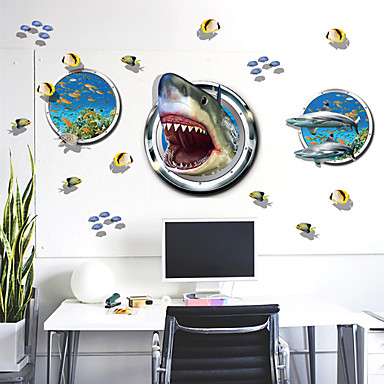 데코레이티브 월 스티커 - 동물의 벽 스티커 동물 거실 / 침실 / 화장실