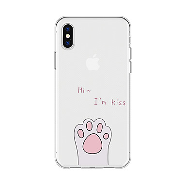 voordelige iPhone 5 hoesjes-hoesje Voor Apple iPhone X / iPhone 8 Plus / iPhone 8 Patroon Achterkant Woord / tekst / dier / Cartoon Zacht TPU