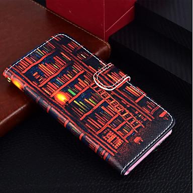 Недорогие Кейсы для iPhone 7-Кейс для Назначение Apple iPhone X / iPhone 8 Pluss / iPhone 8 Кошелек / Бумажник для карт / со стендом Чехол Пейзаж / Масляный рисунок Твердый Кожа PU