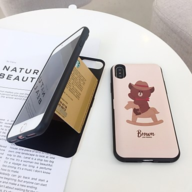 غطاء من أجل Apple iPhone X / iPhone 8 Plus / iPhone 8 حامل البطاقات / قلب غطاء خلفي حيوان قاسي TPU