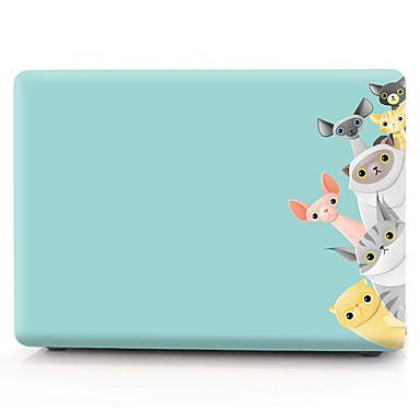 ماك بوك حالة الكرتون البلاستيكية لابل macbook air pro الشبكية 11 12 13 15 المحمول غطاء لحالة macbook new pro 13.3 15 بوصة مع لمسة بار