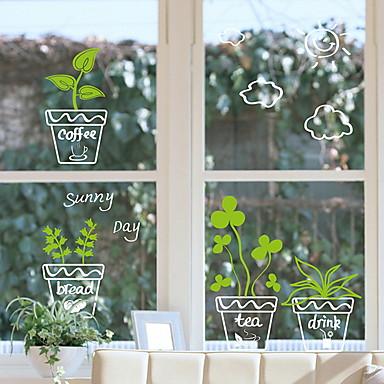فيلم نافذة وملصقات زخرفة زهري ورد PVC ملصق النافذة