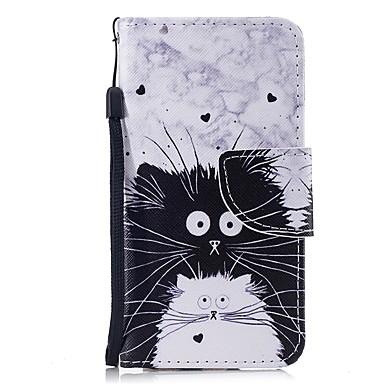 غطاء من أجل Apple ايفون 6s / iPhone 6 محفظة / حامل البطاقات / قلب غطاء كامل للجسم قطة قاسي جلد PU
