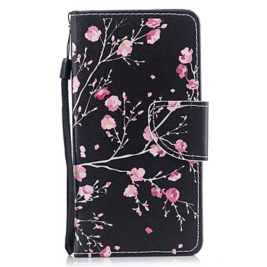غطاء من أجل Huawei Huawei P9 محفظة / حامل البطاقات / قلب غطاء كامل للجسم زهور قاسي جلد PU