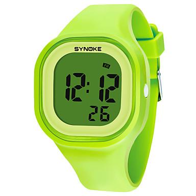 رخيصةأون ساعات الرجال-SYNOKE رجالي نسائي ساعة رياضية ساعة رقمية رقمي سيليكون أسود / الأبيض / أزرق 50 m مقاوم للماء رزنامه الكرونوغراف رقمي موضة - أخضر أزرق زهري / ساعة التوقف / قضية