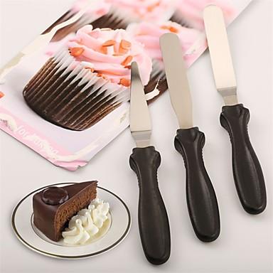 مل 3pcs ستانلس ستيل المطبخ الإبداعية أداة لأواني الطبخ الخبز والمعجنات ملاعق أدوات خبز
