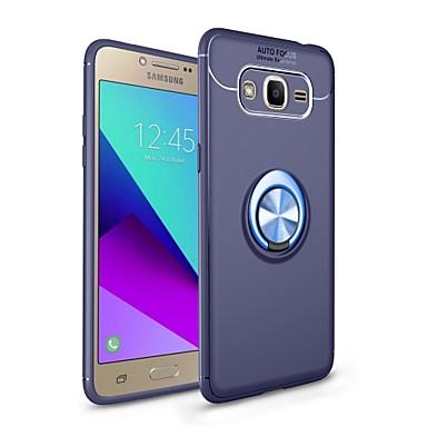 رخيصةأون حافظات / جرابات هواتف جالكسي J-غطاء من أجل Samsung Galaxy J7 Prime / J7 (2017) / J7 (2016) مع حامل / حامل الخاتم / مغناطيس غطاء خلفي لون سادة ناعم TPU