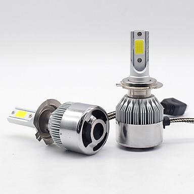 Недорогие Автомобильные фары-2шт h7 / h4 / h3 автомобильные лампочки 25 Вт в сборе 6000 лм 2 светодиодные противотуманные фары / фары на все годы