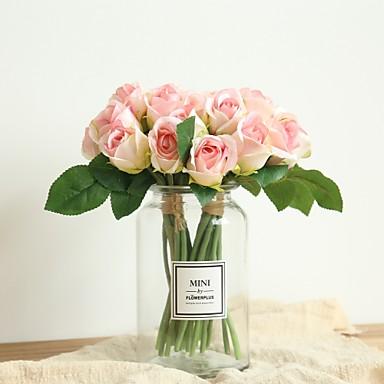 زهور اصطناعية 11 فرع كلاسيكي الزفاف Wedding Flowers الورود أزهار الطاولة