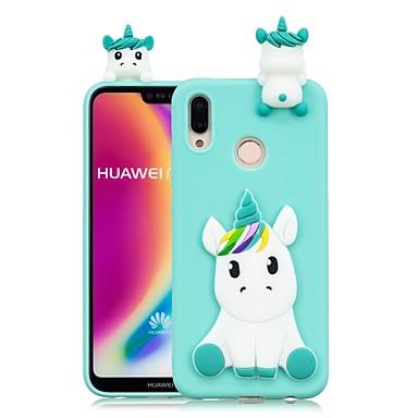 povoljno Maske za mobitele-Θήκη Za Huawei Huawei P20 / Huawei P20 Pro / Huawei P20 lite Uradi sam Stražnja maska Jednorog Mekano TPU / P10 Lite / P10