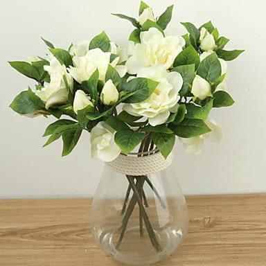 زهور اصطناعية 1 فرع كلاسيكي شرقي غاردينيا أزهار الطاولة