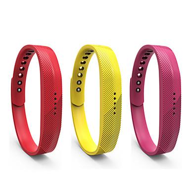 Недорогие Часы для Samsung-Ремешок для часов для Gear Fit 2 Fitbit Спортивный ремешок силиконовый Повязка на запястье