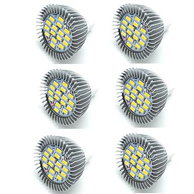 6PCS 5 W LED ضوء سبوت 400 lm MR16 16 الخرز LED SMD 5730 ديكور أبيض دافئ أبيض كول 12 V / بنفايات