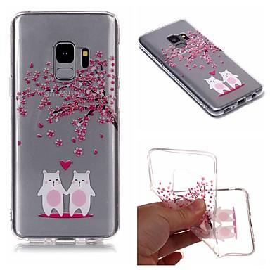 voordelige Galaxy S-serie hoesjes / covers-hoesje Voor Samsung Galaxy S9 / S9 Plus / S8 Plus IMD / Transparant / Patroon Achterkant Cartoon / Boom / Bloem Zacht TPU