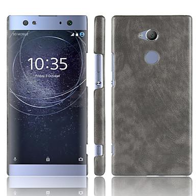 Недорогие Чехлы и кейсы для Sony-Кейс для Назначение Sony Xperia XZ2 / Sony Xperia XZ2 Premium / Xperia XA2 Ultra Матовое Кейс на заднюю панель Однотонный Твердый Кожа PU