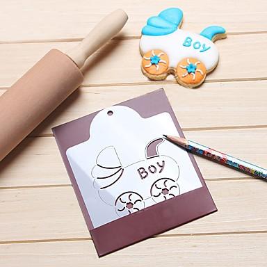 طفل عربة الكوكيز الإستنسل البسكويت القاطع مساعد القهوة رسم العفن أدوات الخبز