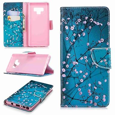Недорогие Чехлы и кейсы для Galaxy Note 4-Кейс для Назначение SSamsung Galaxy Note 5 / Note 4 / Note 3 Кошелек / Бумажник для карт / со стендом Чехол Цветы Твердый Кожа PU