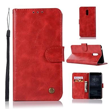 povoljno Maske za mobitele-Θήκη Za Nokia Nokia 8 / 8 Sirocco / Nokia 7 Plus Novčanik / Utor za kartice / sa stalkom Korice Jednobojni Tvrdo PU koža / Nokia 6