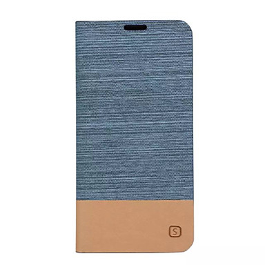 voordelige Galaxy A-serie hoesjes / covers-hoesje Voor Samsung Galaxy A5(2016) / A3(2016) / A5 Kaarthouder / met standaard / Flip Volledig hoesje Effen Hard PU-nahka