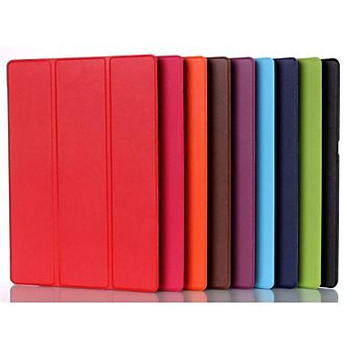 Недорогие Чехлы и кейсы для Lenovo-Кейс для Назначение Lenovo Lenovo Tab 3 10 Plus со стендом / Магнитный Чехол Однотонный Твердый Кожа PU