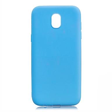 رخيصةأون حافظات / جرابات هواتف جالكسي J-غطاء من أجل Samsung Galaxy J7 (2017) / J5 (2017) / J5 (2016) نحيف جداً غطاء خلفي لون سادة ناعم TPU