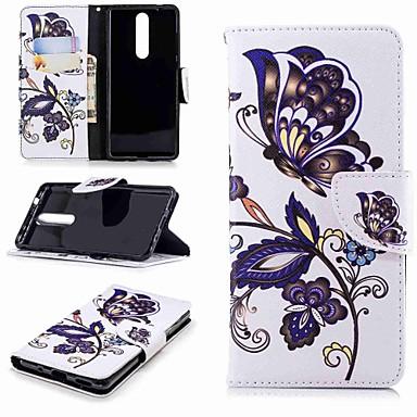 povoljno Maske/futrole za Nokiju-Θήκη Za Nokia Nokia 5 / Nokia 3 / Nokia 2.1 Novčanik / Utor za kartice / sa stalkom Korice Rukav leptir Tvrdo PU koža