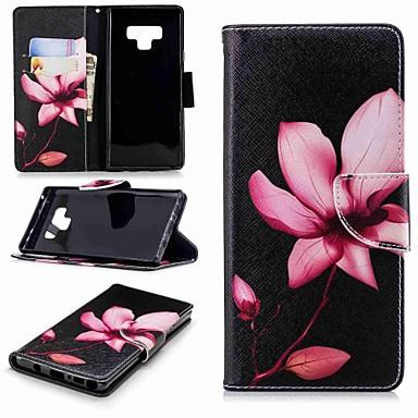 voordelige Galaxy Note-serie hoesjes / covers-hoesje Voor Samsung Galaxy Note 9 / Note 8 Portemonnee / Kaarthouder / met standaard Volledig hoesje Bloem Hard PU-nahka
