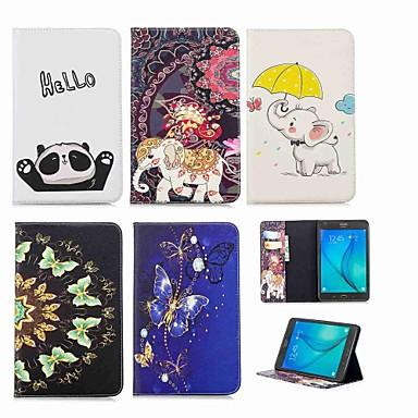 voordelige Samsung-hoes voor tablets-hoesje Voor Samsung Galaxy Tab A 8.0 Portemonnee / Kaarthouder / met standaard Volledig hoesje Olifant Hard PU-nahka