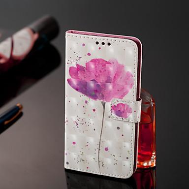 غطاء من أجل Samsung Galaxy J8 / J7 Duo / J2 PRO 2018 محفظة / حامل البطاقات / قلب غطاء كامل للجسم زهور قاسي جلد PU