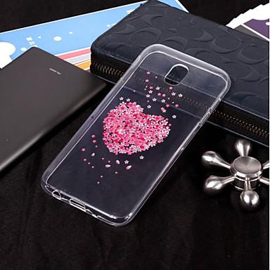 غطاء من أجل Samsung Galaxy J7 (2017) / J7 (2016) / J7 IMD / شفاف / نموذج غطاء خلفي زهور ناعم TPU