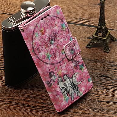Недорогие Чехлы и кейсы для Galaxy S-Кейс для Назначение SSamsung Galaxy S9 / S9 Plus / S8 Plus Бумажник для карт / со стендом / Флип Чехол Ловец снов Твердый Кожа PU