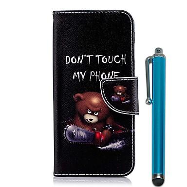 غطاء من أجل Samsung Galaxy A6 (2018) / A6+ (2018) / A5 (2017) محفظة / حامل البطاقات / مع حامل غطاء كامل للجسم حيوان قاسي جلد PU