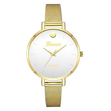 Geneva نسائي ساعة المعصم كوارتز ذهبي تصميم جديد ساعة كاجوال كوول مماثل سيدات كاجوال موضة - أسود وذهبي الذهب / أبيض سنة واحدة عمر البطارية