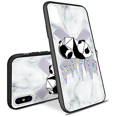 غطاء من أجل Apple iPhone X / iPhone 8 Plus / iPhone 8 نموذج غطاء خلفي نموذج هندسي / حيوان قاسي أكريليك